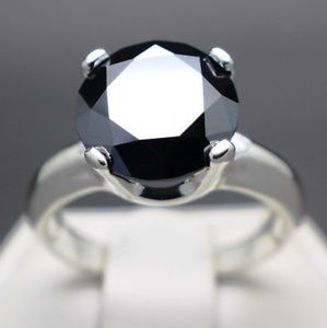 Jewelry - 3.50cts Real Black Diamond Ring